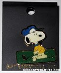 Snoopy playing golf Pin
