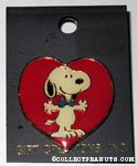 Snoopy in front of heart Pin