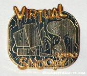 Snoopy at Computer 'Virtual Snoopy 1990' Pin