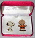 Snoopy and Charlie Brown Pin Set