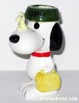 Snoopy with Dogdish on Head Planter