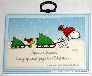 Special friends bring special joys to Christmas Plaque