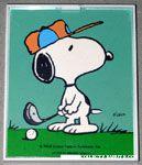 Snoopy golfing Framed Print