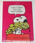 Snoopy holding bananas 'I can't stand this diet much longer' Plaque