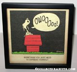 Snoopy howling 'Sometimes you just need to express yourself' Framed Print