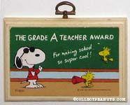 The grade A teacher award Plaque