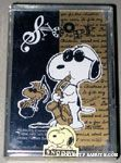 Joe Cool playing sax and Woodstock Playing Cards