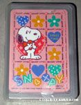 Snoopy holding heart Playing Cards