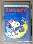 Snoopy & Woodstocks wearing pjs on moon Playing Cards