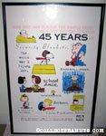 Peanuts 45th Anniversary Cartoon Art Museum Poster