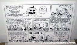 Peanuts Great Pumpkin Comic Strip Poster