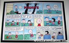 Charlie Brown, Lucy and Rerun Football Sunday Comic Strip Poster