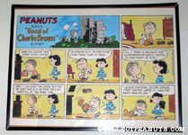 Lucy & Linus 'How the Mighty Have Fallen' Sunday Comic Strip Poster