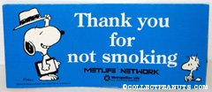 Snoopy & Woodstock 'Thank you for not smoking' Poster