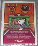 Snoopy in front of fireplace with mounted heads Metlife Magazine Ad