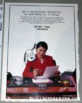 Snoopy peaking over lady's shoulder Metlife Magazine Ad