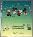 Charlie Brown doing flips Metlife Financial Brochure