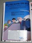 Peanuts Gang getting on plane Metlife Magazine Ad