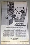 Snoopy switchboard operator Newspaper Ad