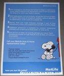 Snoopy on phone Metlife Fact Sheet