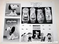 Peanuts Playmate, Punch Bags and Bendy Dolls Determined Productions (Happiness Productions) Product Sheet