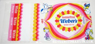 Peanuts Gang Weber's White Bread Bag