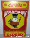 Charlie Brown Thanksgiving Day Store Sign