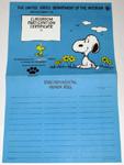 Snoopy & Woodstock Johnny Horizon Environmental Honor Roll Poster