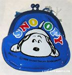 Snoopy on Blue Coin Purse