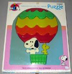 Snoopy & Woodstock riding in Hot Air Balloon Puzzle