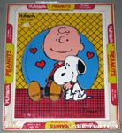 Snoopy leaning on Charlie Brown Puzzle