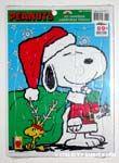 Santa Snoopy and Reindeer Woodstock Puzzle