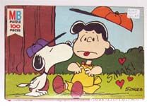 Snoopy kissing Lucy Puzzle