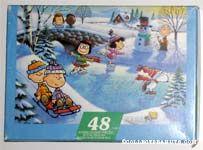 Peanuts doing various winter activities