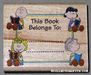 Sally, Charlie Brown, Linus & Lucy Reading Books 'This Book Belongs to' Rubber Stamp