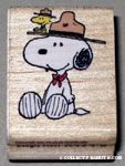 Beaglescout Snoopy & Woodstock Rubber Stamp