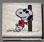Joe Cool leaning on wall Rubber Stamp
