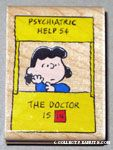 Lucy in Doctor's Booth Rubber Stamp