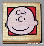 Charlie Brown portrait Rubber Stamp