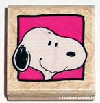 Snoopy Portrait Rubber Stamp