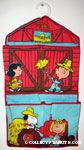 Peanuts Gang farmers in barn scenes Shoe Organizer