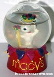 Jester Snoopy Macy's Snowglobe