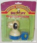 Snoopy head blue push-down Horn