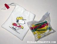 Snoopy golfing bag of tees