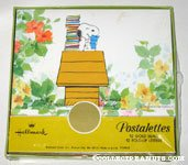 Snoopy on doghouse reading letters Stationery