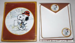 Snoopy dressed up holding paper Stationery