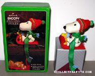 Snoopy & Woodstock on sled Stocking Holder