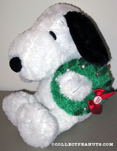 Winter Snoopy Plush Stuffed Animal Santa Hat Vintage 1996 Applause Peanuts Charlie Brown Dog Toy With Tags Christmas Collectible Home Decor