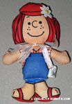 Peppermint Patty wearing overalls Doll