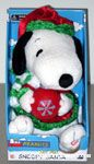 Animated Snoopy holding Ornament Plush